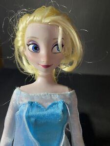 "Disney Trading Ltd. Disney Store 12"" FROZEN Elsa Doll GUC! No Shoes"