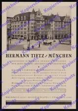 Reklame Hermann Tietz Kaufhaus Straßenbahn Litfaßsäule Hauptbahnhof München 1925