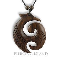Halskette längenverstellbar Anhänger Holz Kette Maori Neuseeland Design N282
