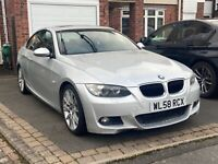 bmw 320i m sport automatic coupe silver black leather, sunroof 12 months MOT
