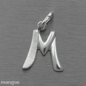 Buchstaben Anhänger - M - Echtschmuck 925 Silber - auf Wunsch mit Kette - NEU