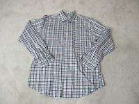 Peter Millar Button Up Shirt Adult Large Brown Black Plaid Long Sleeve Mens