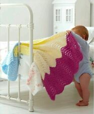 (172) Chunky Knitting Pattern for Baby Ice Cream Blanket