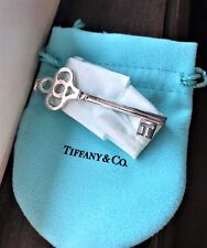 "$305 Tiffany & Co. Sterling Silver 925 Keys Crown Key Pendant 2.5"" Long w/ Pouch"