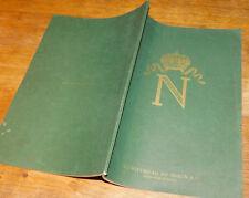 1913 NAPOLEON Kunstverlag Braun LISTE art des TABLEAUX portraits ANCIEN bilder