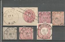 Preussen V. / LESSEN 6 feinst-Kabinett-Stücke, dabei 2 K2 auf gr. GAA 1 Sgr. W.