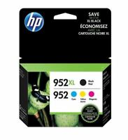 HP 952XL Black & 952 Color Ink Combo  Pack of 4 Exp 2021