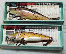 vintage 2 RAPALA 5TR floating LEURRE de PECHE poisson FISH flottant BALSA pecher