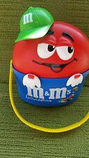 VINTAGE M&Ms (M & M) CHARACTER LUNCH BOX (RED/BLUE) - 1999 - EXCELLENT CONDITION
