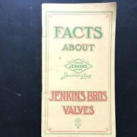 1913 JENKINS BROS VALVES vintage catalogue GATE VALVES plumbing and engineering