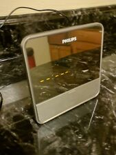 Philips Dc190B Portable Alarm Clock Radio Speaker System w/Dock Connector & Mp3
