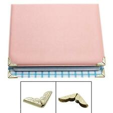 100Pcs Iron Metal Book Scrapbooking Albums Menus Folder File Corner Protector