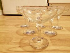 More details for set of 6 vintage babycham glasses excellent condition gold rim collectable glass
