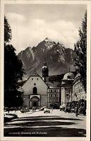 Innsbruck Tirol Ansichtskarte ~1940 Rennweg mit Hofkirche Straßenpartie Autos