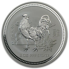 2005 2 oz Silver Australian Perth Mint Lunar Year of the Rooster Coin - SKU#1096