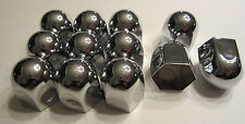 """12 Chrome Metal 15/16"""" Nut Caps & Bolt Covers for Car Truck Motorcycle SET LOT"""