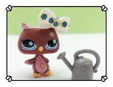 Littlest Pet Shop Bird Owl 635 Authentic Lps Flower Eyes Bow Accessories