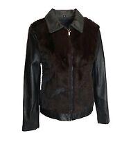 Fontelli Women's Short Mink/Leather Jacket