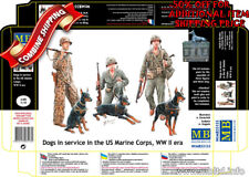 Master Box 35155 WWII Dogs in service in the US Marine Corps plastic kit 1/35