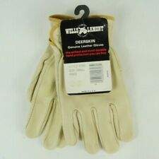 Vintage Wells Lamont Deerskin Genuine Leather Gloves Style 970S Small Usa Nos