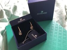 Swarovski Energic Gold Geometric Crystal Tear Drop Earrings In Gift Box w tags
