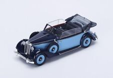 S4905 Spark 1/43 : Mercedes-Benz 320 A Convertible open top 1937 Blue and Black