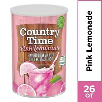 ( 2 Pack ) Country Time Pink Lemonade Drink Mix, 63 oz Canister