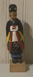 Hand Carved And Painted Korean Wooden Figure