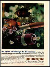 1963 Bronson Professional Series Fishing reels Vintage Print Ad