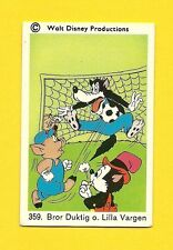 Big Bad Wolf Three Little Pigs Soccer Vintage 1970s Walt Disney Card from Sweden