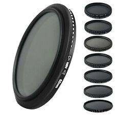 Slim ND2-400 Fader 55/58/62/mm Adjust Variable ND Filter for Nikon Canon Camera