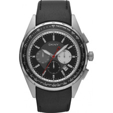 Orologio DNKY ref. NY1488 Donna Karan New York Uomo chrono in pelle e data