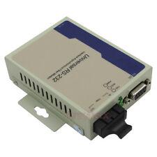 Industrial Bidirectional RS232 Optical MODEM Serial to Fiber Converter DB9 MM SC