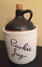 Stoneware Crock Jug VINTAGE Monmouth Pottery COOKIE JAR COOKIE CORK WHISKY USA