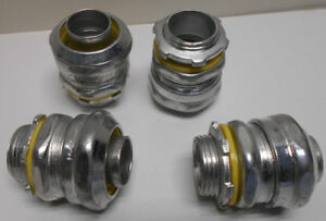 """Lot of 10 Crouse-Hinds 3/4"""" Straight Connector , Steel Liquidtight , LT75 LT75S"""