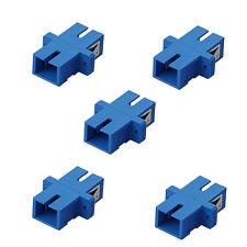 5x SC-SC Multimode Duplex Optical Fiber Optic Cable Coupler Adapter Coupling