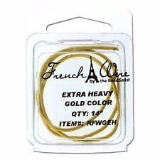 "French Wire Bullion Extra Heavy 14"" Goldtone by Beadsmith"