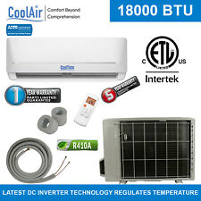 18000 BTU Mini Split HVAC Heating & Cooling System by CoolTime  WIFI & Ductless