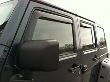 In-Channel Vent Visors for 2007 - 2017 Jeep Wrangler Unlimited