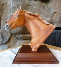 Vintage Kaiser Porcelain Horse Bust & Stand Germany Signed R.B. Tate