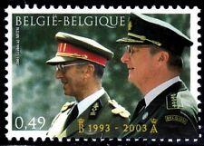 SELLOS BELGICA 2003 3188 HOMENAJE A LOS REYES BALDUINO Y ALBERTO II 1v.