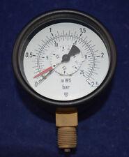 "Carl Scheich Differenzdruck Manometer RDiM 0-2,5 bar 100mm 1/2"" mWS"