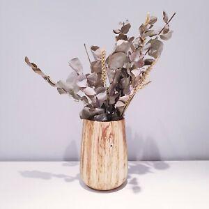 English Oak Vase. Flower Display. Handmade. One Of A Kind