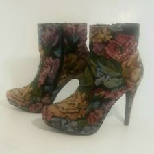 """Diba Womens Tapestry Fabric Boots Size 9 1/2"""""""