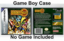 Golden Sun - Game Boy Advance GBA Custom Case *NO GAME*