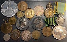 Lot 17 médailles France, Russie, Napoléon, Louis XIV, Bronze, Argent ++ A voir +