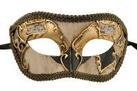 Maschera Di Venezia Columbine Dorata Nero-Costume-Partito-Bal 1938 -V82B
