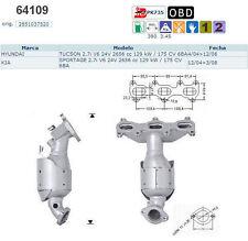 Pot catalytique Kia Sportage 2.7i V6 24V 175cv 6BA 12/04>3/08, gauche, antér