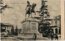 1917 Verona - Monumento a Vittorio Emanuele II, bicicletta - FP B/N VG ANIM