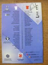 23/10/1993 Tottenham Hotspur v Swindon Town [Hand Signed By Fraser Digby] (small